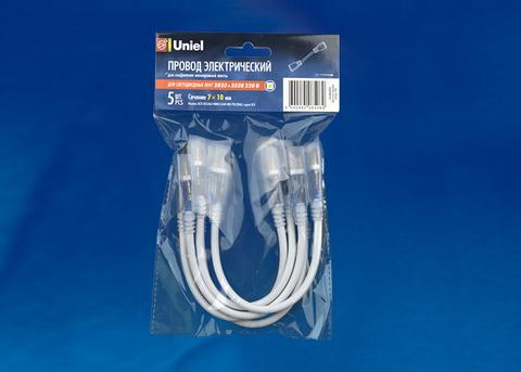 UCX-SK2/A67-NNN CLEAR 005 POLYBAG Соединитель (провод) для светодиодных лент 220В 3528, 2 контакта, цвет прозрачный, 5 штук в пакете