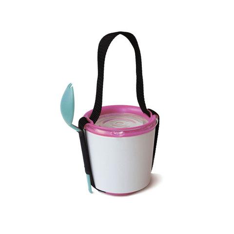Ланч-бокс Lunch Pot бело-розовый