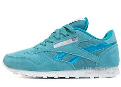 Кроссовки Женские Reebok Classic Leather Aqua Blue