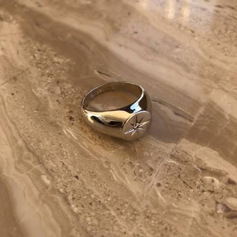 Кольцо Коламба, серебряный цвет