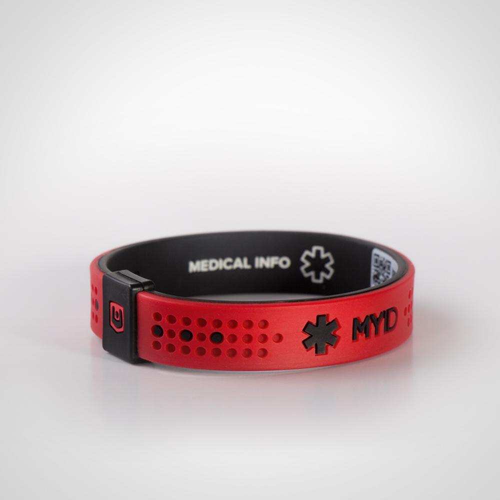 Информационный энергетический браслет My ID Sport красный/черный