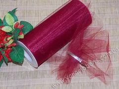 Фатин в рулончиках винный