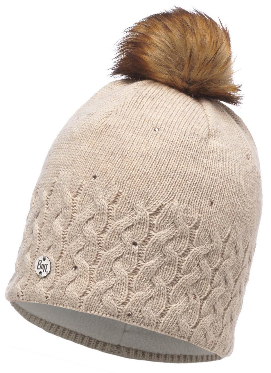 Вязаная шапка с флисовой подкладкой Buff Elie Beige