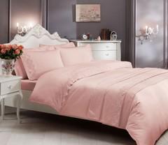Постельное белье ALIANZ розовый  с кружевом deluxe TIVOLYO HOME Турция