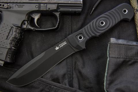 Туристический нож Vendetta D2 Black Titanium