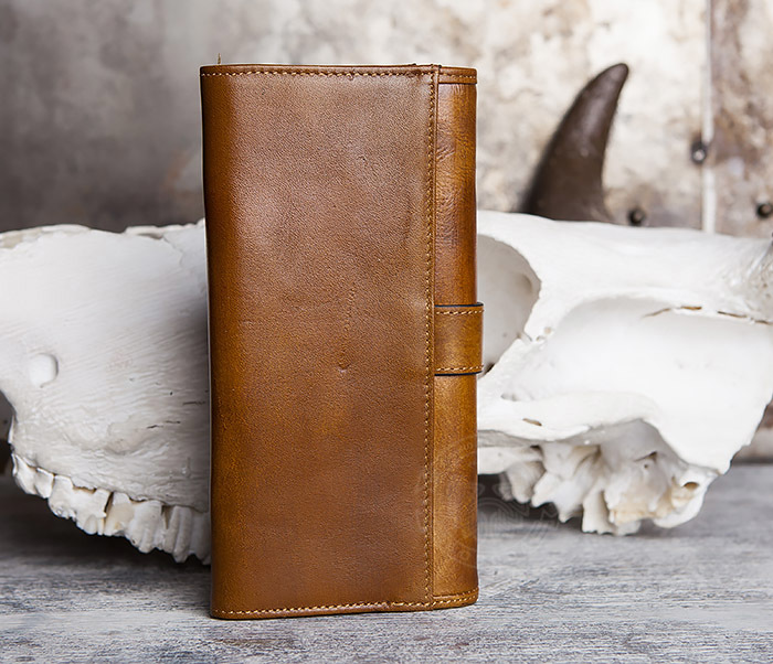 WL296-2 Мужской кошелек клатч из натуральной кожи фото 04