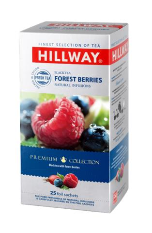 Hillway Forest Berries Черный чай с лесными ягодами конверты 25 шт*1,5 гр.