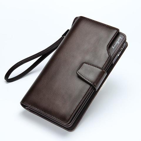 Портмоне мужское коричневое Baellerry Business из искусственной кожи 00100513A
