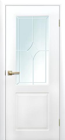 Дверь Сибирь Профиль Квартет ДО, стекло матовое, цвет белый, остекленная