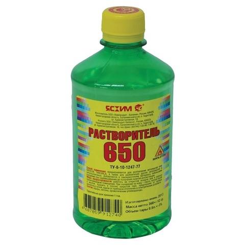 Растворитель 650 ПЭТ 0,5л
