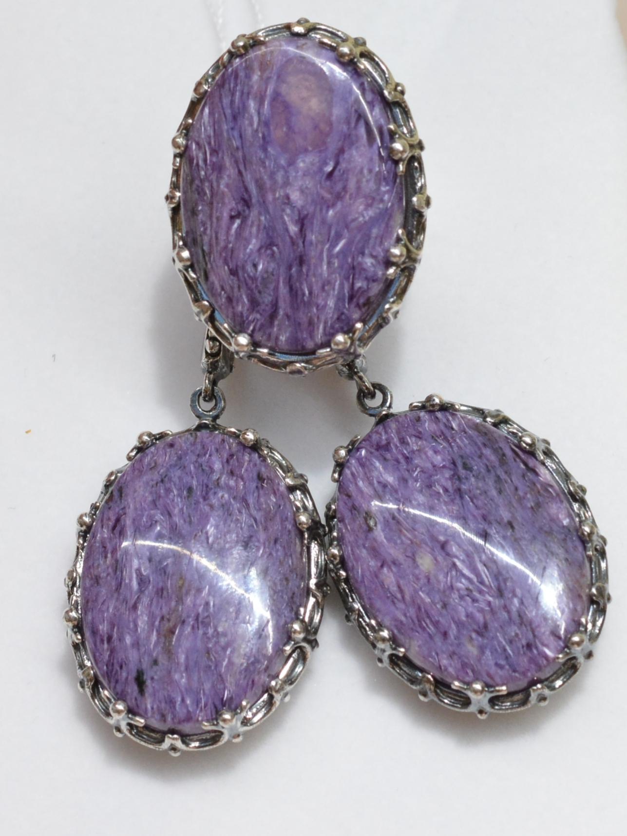 Чары (кольцо + серьги из серебра)