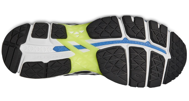 Мужские беговые кроссовки Asics Gel-Kayano 22 (T547N 9093) черные подошва