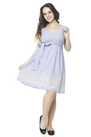 Платье 07548 голубой