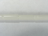 Бусина из коралла белого, фигурная, 3x9 мм (цилиндр, гладкая)