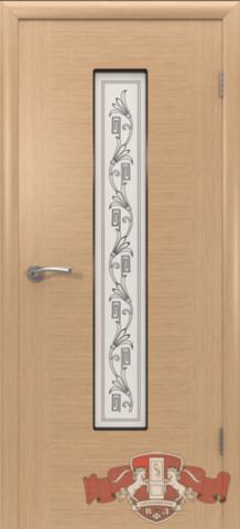 Дверь Владимирская фабрика дверей Рондо 8ДО1, цвет светлый дуб, остекленная