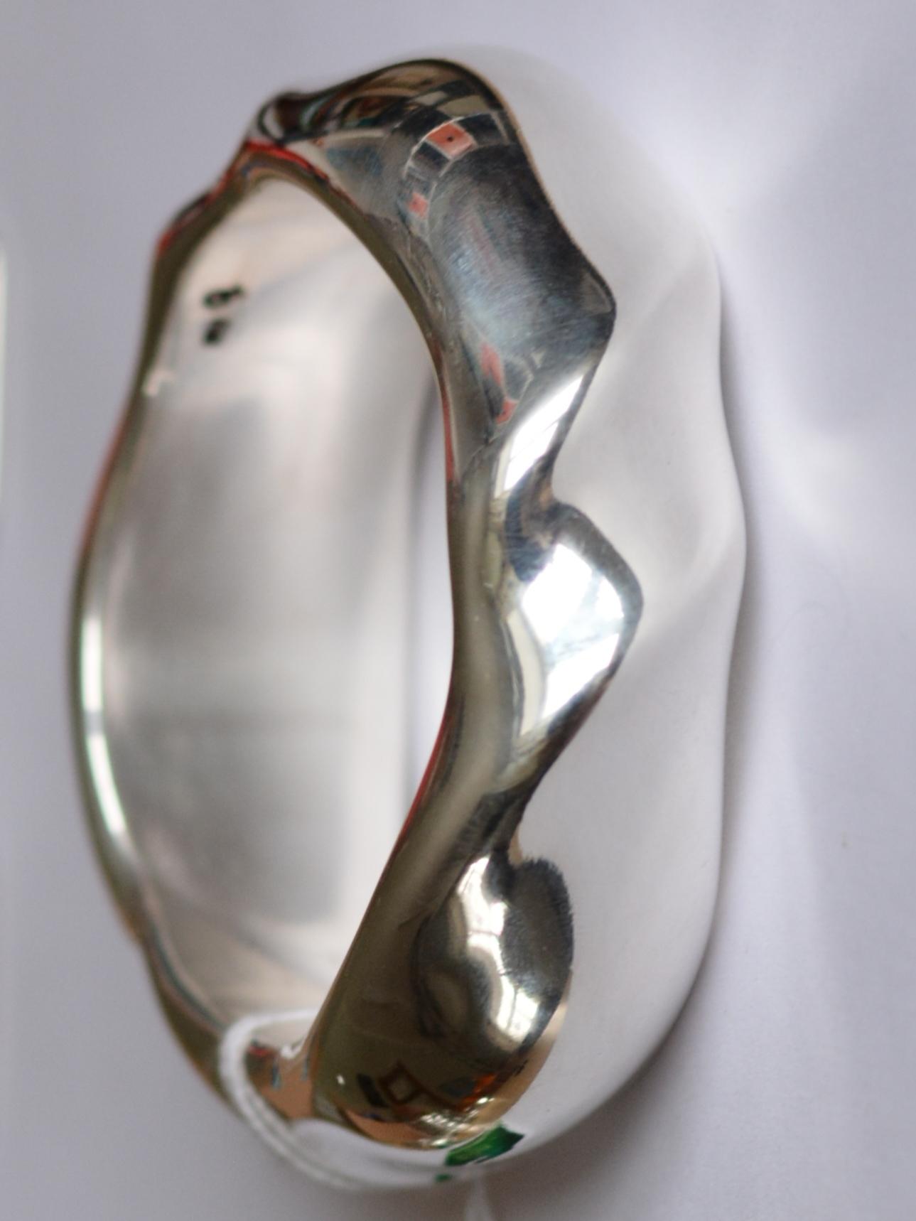 Пончик (браслет из серебра)