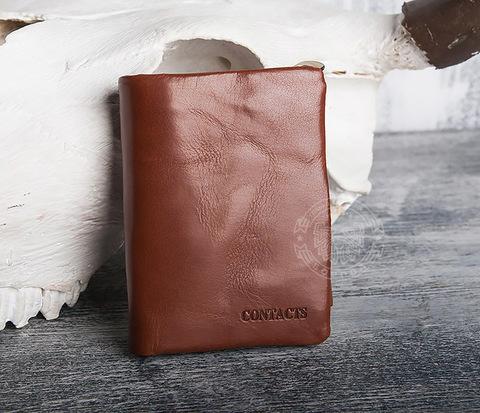 WL280-2 Мужской кошелек из натуральной кожи с монетницей