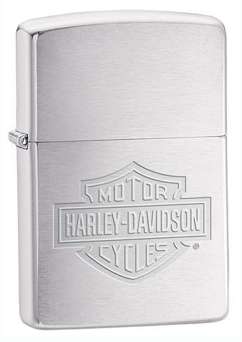 Зажигалка ZIPPO Harley-Davidson® Classic Brushed Chrome™ с грайверовкой ZP-200HD.H199