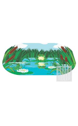 Картинка Коврик Болото из флиса с рисунком ( 100 * 73 см. )