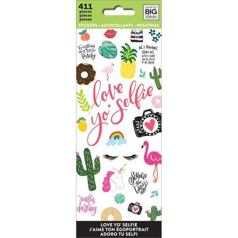 Блокнот со стикерами-Love Yo Selfie Stickers-411in