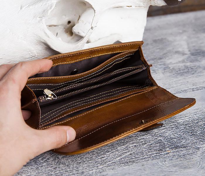 WL296-2 Мужской кошелек клатч из натуральной кожи фото 08