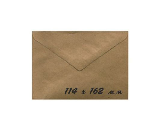 Крафт конверт 11,4x16,2 см, 90 г/м, 1 шт.