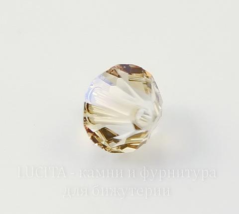 5328 Бусина - биконус Сваровски Crystal Golden Shadow 6 мм, 5 штук