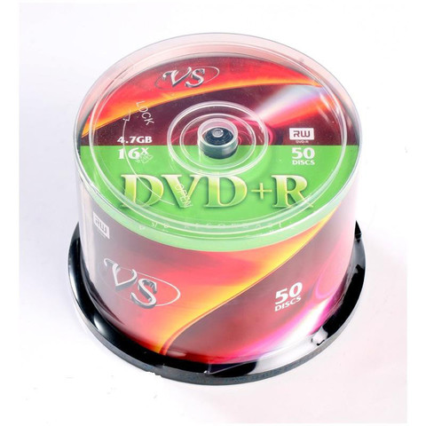 Носители информации VS DVD+R 4,7GB 16x Cake/50