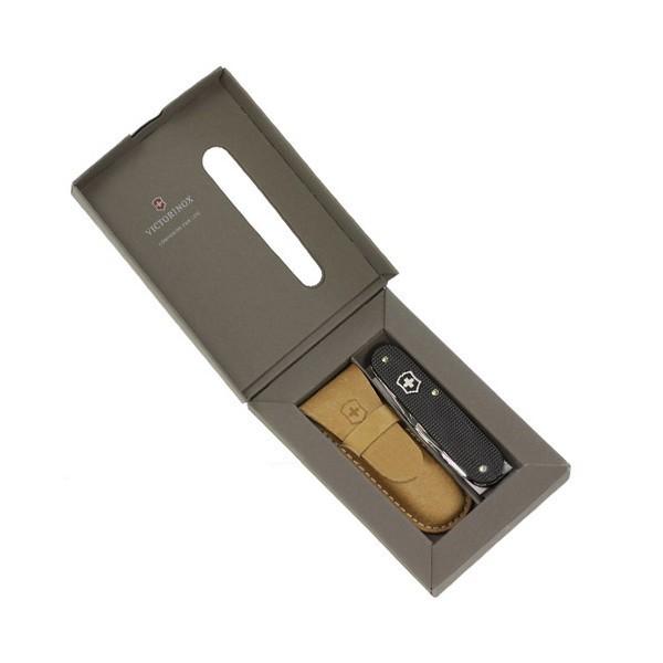 Армейский нож 84 мм LE 2012 Cadet 5 Colors, алюминиевая рукоять, черный, 0.2600.L1223