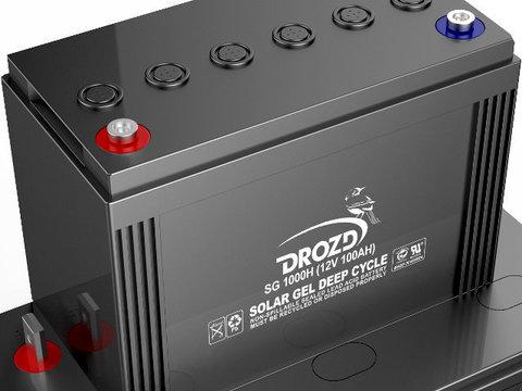 Аккумулятор гелевый DROZD 100 А/ч