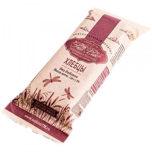 Хлебцы бездрожжевые, ЭКО-хлеб, без добавок из пророщенного зерна пшеницы, 120 г.