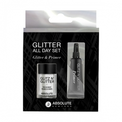 ABSOLUTE NEW YORK Набор 2 в 1 праймер + блестки Glitz N' Glitter All Day Set