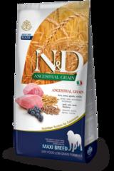 Корм для собак крупных пород, Farmina N&D Low Grain Lamb & Blueberry Adult Maxi, с ягненком и черникой