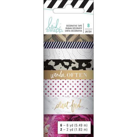 Скотчи декоративные Heidi Swapp Hawthorne Washi Tape Rolls -8шт.