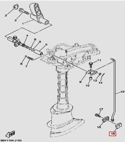Фиксатор тяги пп правый для лодочного мотора F5 Sea-PRO(15-16)