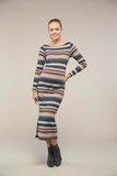 Платье 09104 карамельные полосы