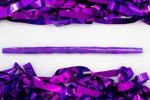 Металлизированный серпантин фиолетовый