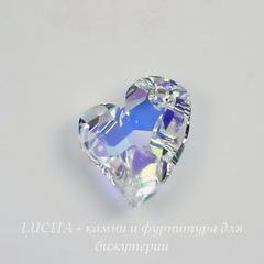 6261 Подвеска Сваровски Сердечко Crystal AB (17 мм)