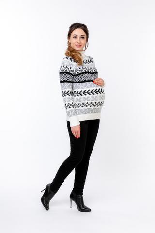 Свитер для беременных 03859 белый/черный
