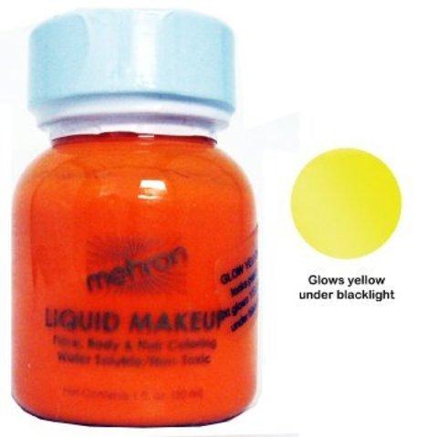 MEHRON Светящийся в ультрафиолете жидкий грим Liquid Makeup, Fluorescent (Black Light) Yellow