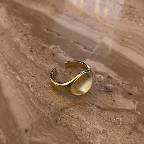 Кольцо Ренека, позолота