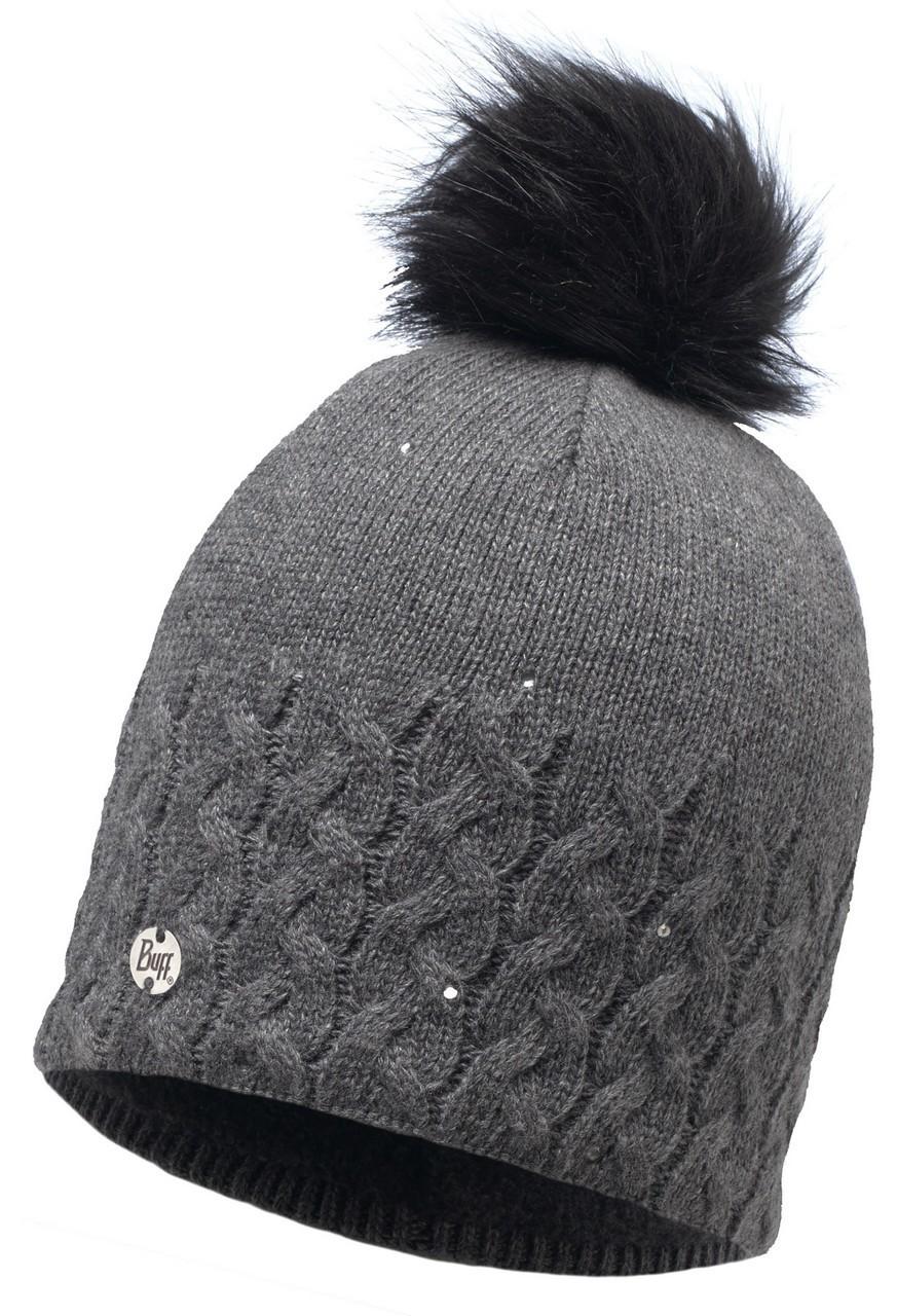 Женские шапки Вязаная шапка с флисовой подкладкой Buff Elie Grey 116012.937.10.00.jpg