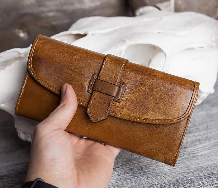WL296-2 Мужской кошелек клатч из натуральной кожи фото 11