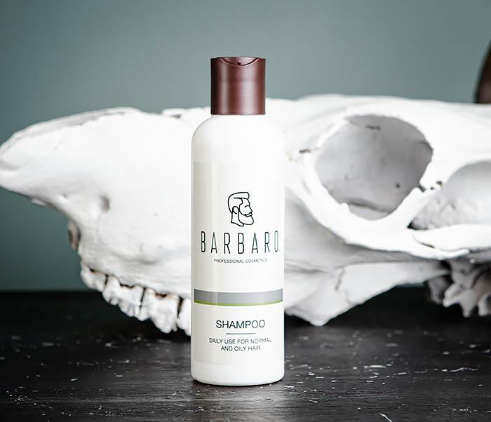 RAZ1016 Мужской шампунь для нормальных и жирных волос Barbaro (220 мл)