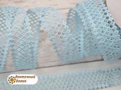 Лента-сеточка голубая ширина 22 мм (уценка)