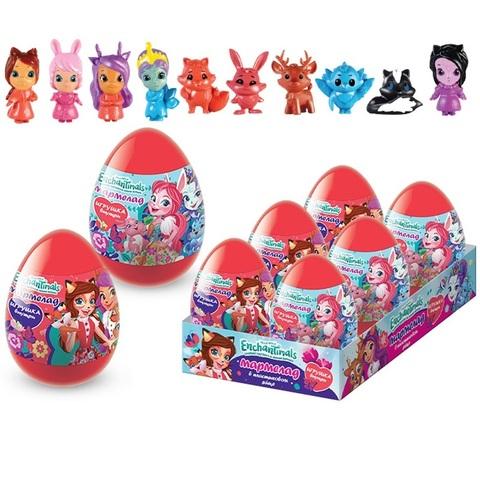 ENCHANTIMALS Мармелад  в пластиковом яйце с игрушкой 1кор*12бл*6шт, 10г.