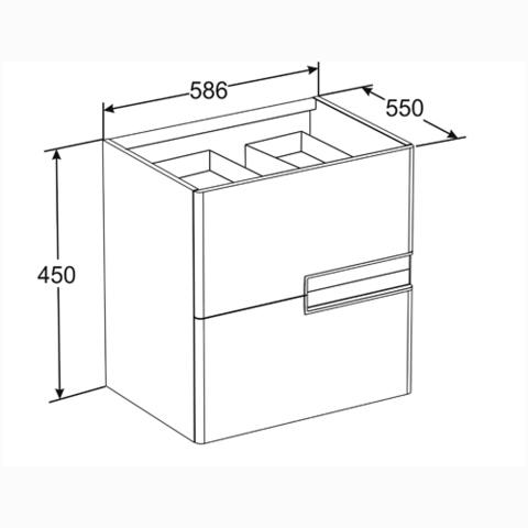 Мебель для ванной RRoca Victoria Nord Ice Edition 60x45 ZRU9302730/32782100Y схема