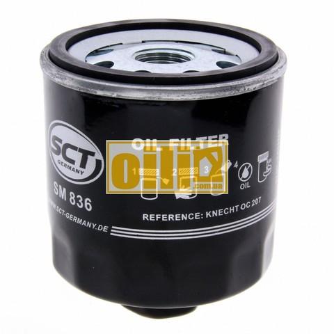 Фильтр масляный SCT SM836 (Skoda, Volkswagen, Seat, Audi)