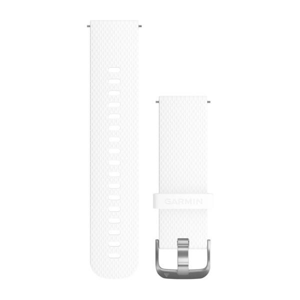 Силиконовый ремешок Garmin белый с стальным креплением