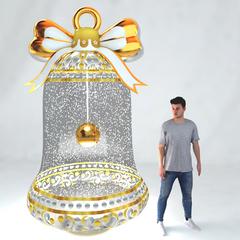 Надувной Колокольчик с эффектом снега и подсветкой